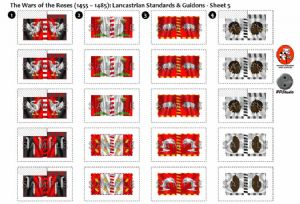 BFL3200b2  The Wars of the Roses (1455 - 1485): Lancastrian Rectangular Guidons - Sheet 5